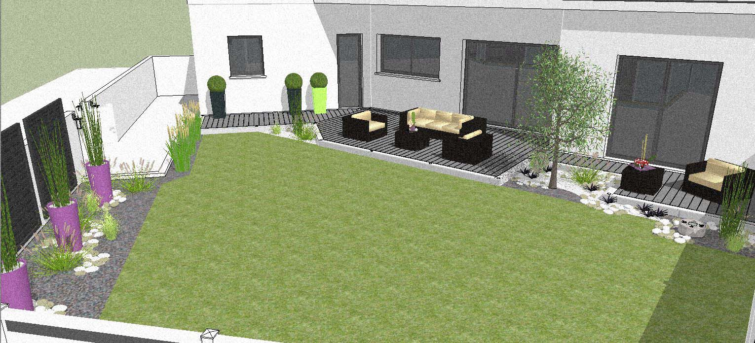z sketchup amenagement jardin ploemeur - Amenagement De Jardin