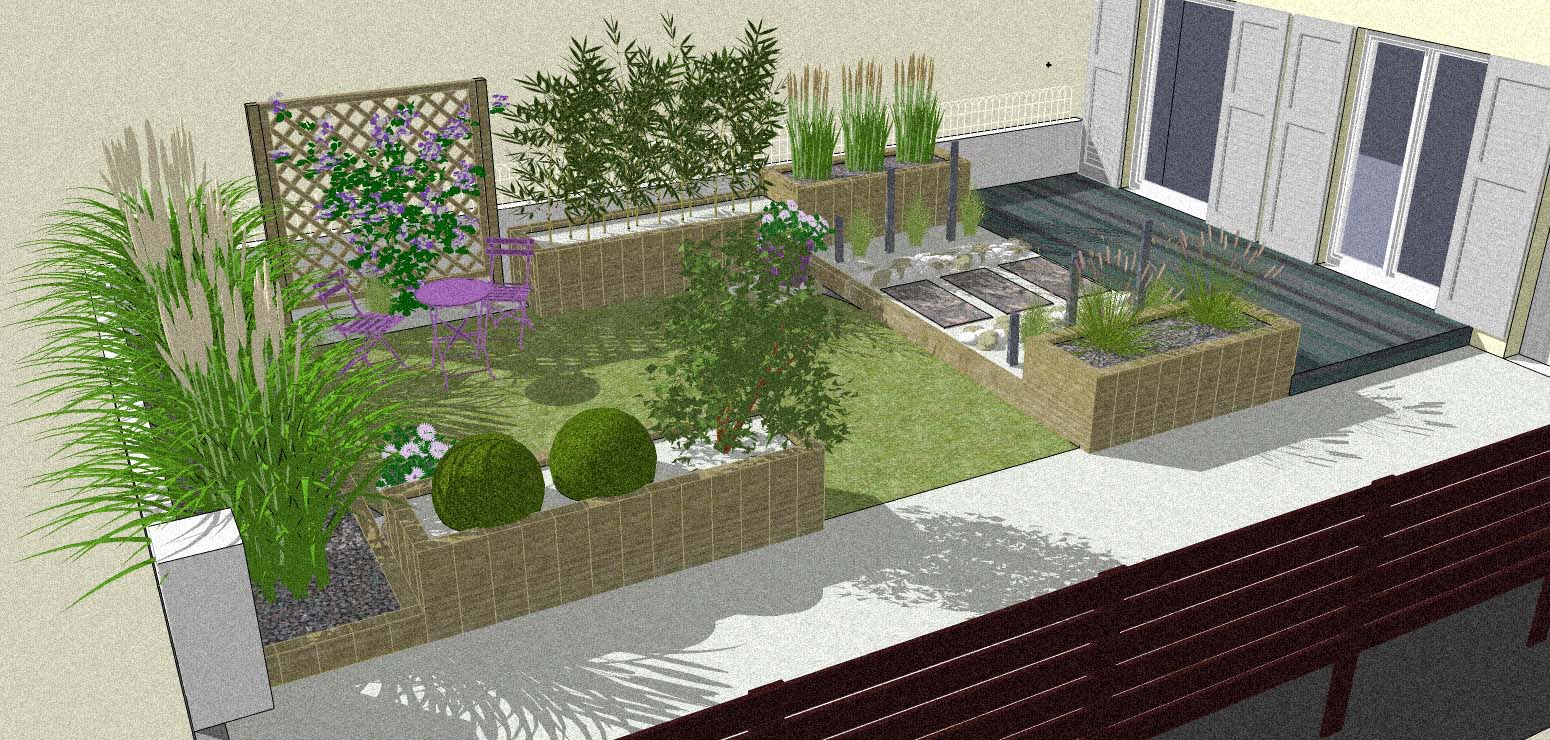 Amenagement de bassins de jardin for Amenagement sol jardin