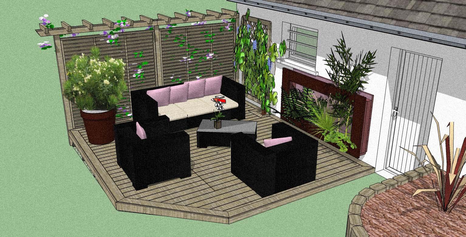 stunning amenagement terrasse images. Black Bedroom Furniture Sets. Home Design Ideas